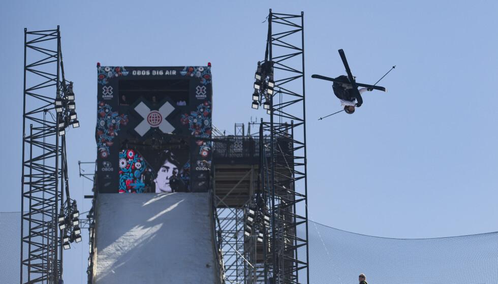MESTER: Birk Ruud slo til under X Games big air på ski og var best av samtlige. Foto: Fredrik Hagen / NTB scanpix