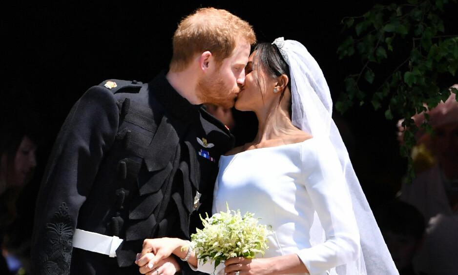 NYGIFT: Storbritannias prins Harry giftet seg med skuespilleren Meghan Markle lørdag. Foto: NTB scanpix