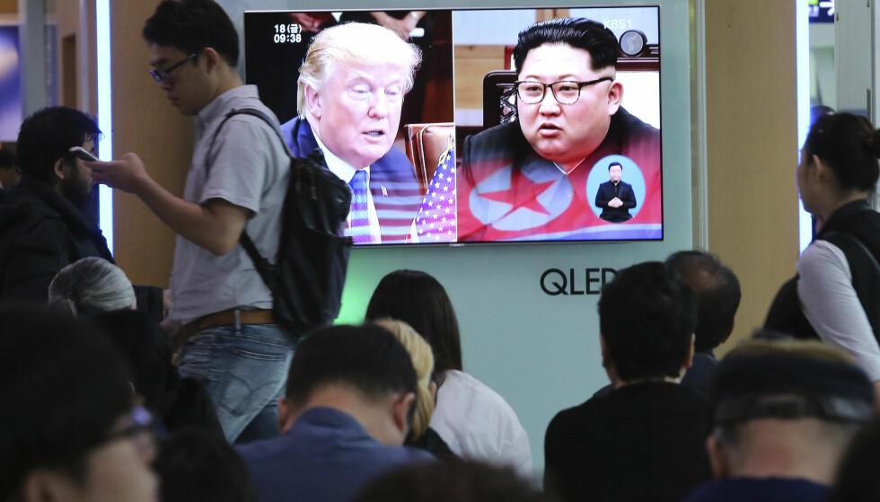 SKAL SAMTALE: USAs president Donald Trump skal etter planen møte Nord-Koreas leder Kim Jong-un 12. juni. Foto: AP / NTB scanpix