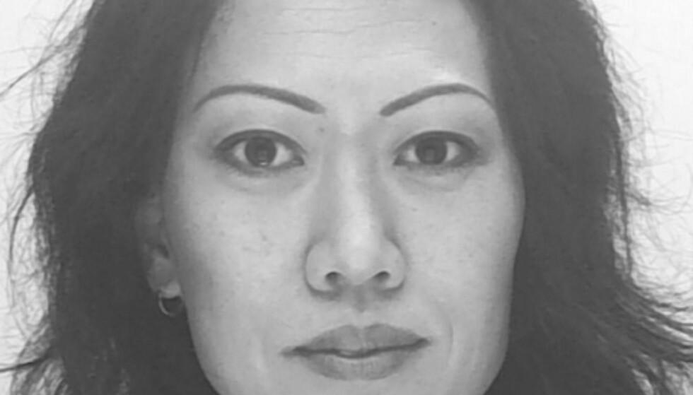 SAVNET: Lena Wesström (45) forsvant fra sitt hjem natt til tirsdag. I går ble en død kvinne funnet 100 meter fra 45-åringens hjem, og politiet befarer at det er den savnede kvinnen som er funnet død. Foto: Politiet