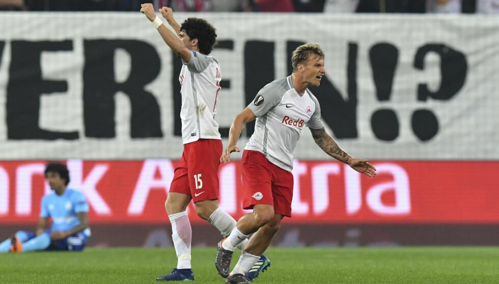 MATCHVINNER: Den tidligere Molde- og Lillestrøm-spilleren satte kampens eneste scoring mot Mattersburg. Foto: NTB/Scanpix