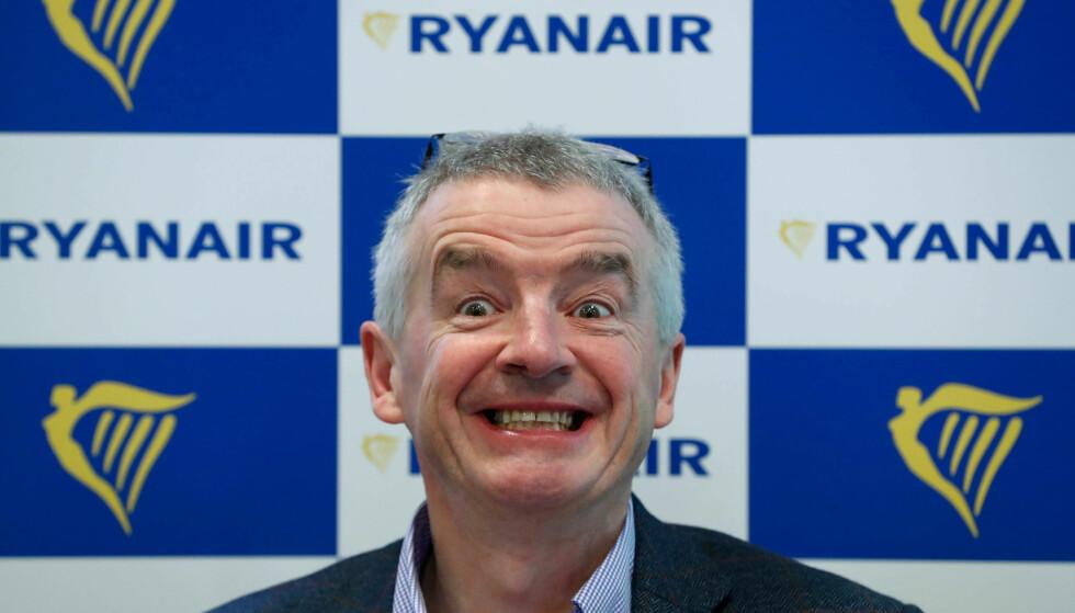 DYSTER FRAMTID: Ryanair-sjef Michael O'Leary spår en dyster framtid for Bjørn Kjos og Norwegian. Foto: Yves Herman / Reuters / NTB Scanpix