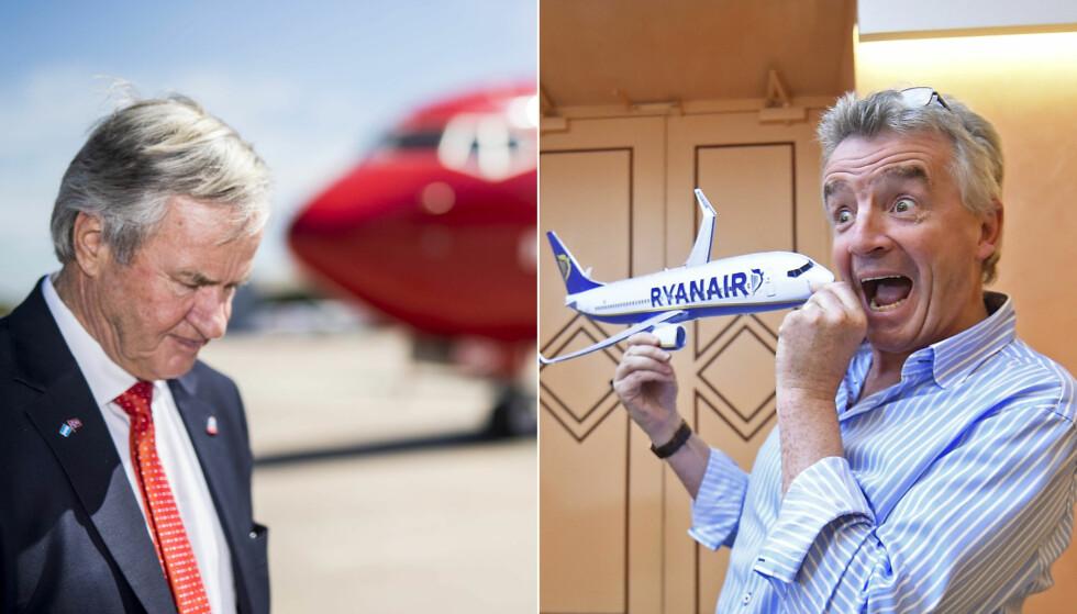 OLJEPRISER: Det er ikke første gang Ryanairs Michael O'Leary uttalelser i media får oppmerksomhet. Denne gangen mener han at flere konkurrenter, blant annet Norwegian, vil gå konkurs på grunn av økende oljepriser. Foto: NTB Scanpix