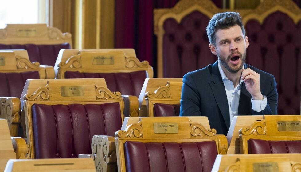 Kjedelig: Både Rødt-leder Bjørnar Moxnes og velgerne hans gjesper av den politiske debatten. Partiets egen populisme derimot? Den engasjerer. Foto: Heiko Junge / NTB scanpix