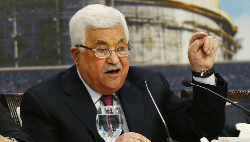 SYK: Palestinernes president Mahmoud Abbas ble lagt inn på sykehus søndag, for tredje gang på under en uke. Han skal være på bedringens vei. Foto: AP / NTB scanpix