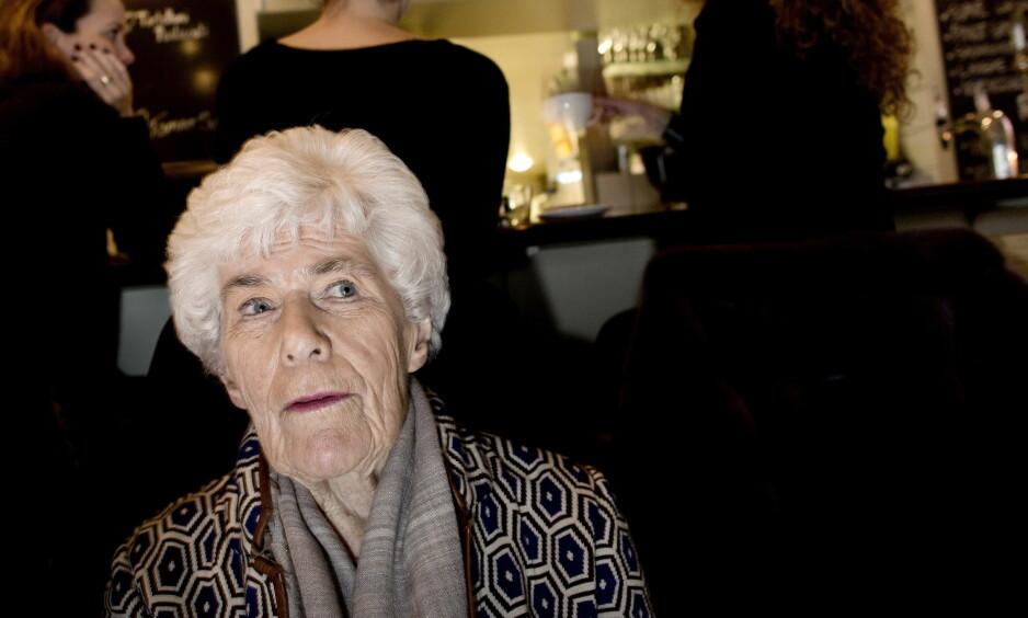 HELE NORGES MATMOR: Ingrid Espelid Hovig er blant beboerne som må flytte når driften ved Frognerhjemmet i Oslo legges ned.   Foto: Tomm W. Christiansen