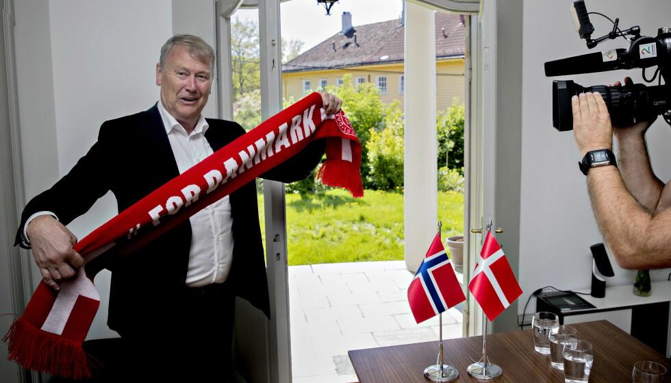 HEIA DANMARK: Åge Hareide leder Danmark gjennom VM. Foto: Bjørn Langsem / Dagbladet