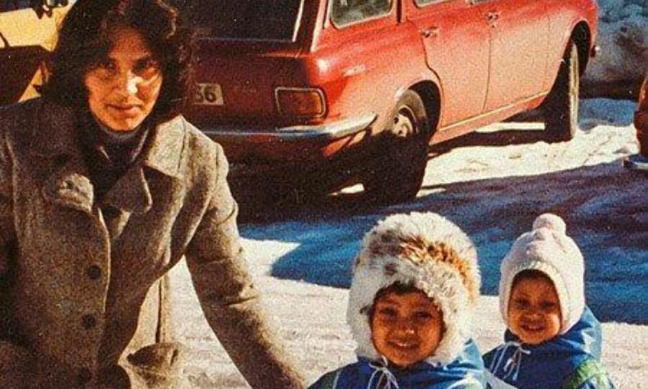 FEMINIST: Azra Gilanis bok er et sterkt rørende og brennende engasjert innlegg i debatten om integrering og sosial kontroll. Her med sine to eldste døtre. Foto: Faksimile fra bokas forside. Vigmostad & Bjørke