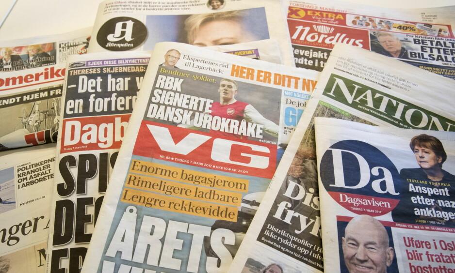 TVIHELD PÅ FORBOD: Mens landets største avis, VG, har sleppt nynorsken til i spaltene sine og på nettsida si, tviheld Dagbladet på forbodet mot eitt av dei to norske språka, skriv artikkelforfatteren.   Foto: Terje Bendiksby / NTB scanpix