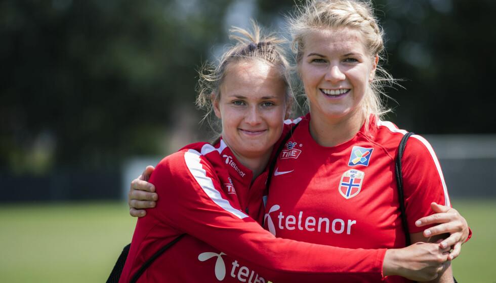 NORSK DUELL I FINALEN: De to norske stjernespillerne møtes i Champions League-finalen i morgen. Foto: Berit Roald / NTB scanpix