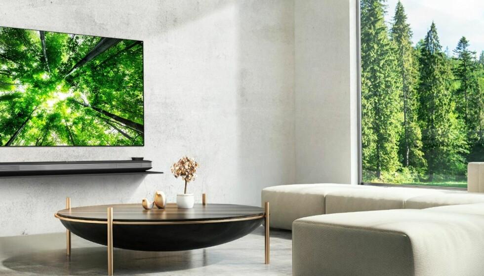 INTERIØRLØFT: En OLED-tv fra LG glir sømløst inn i hjemmet. Og løfter det kanskje et par hakk.