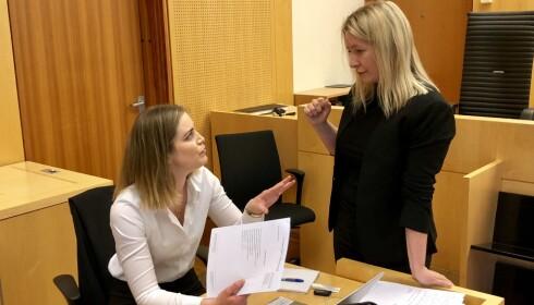 PARTER: Aktor Marita Hagen og forsvarer Silje Elisabeth Stenvaag. Foto: Trym Mogen / Dagbladet