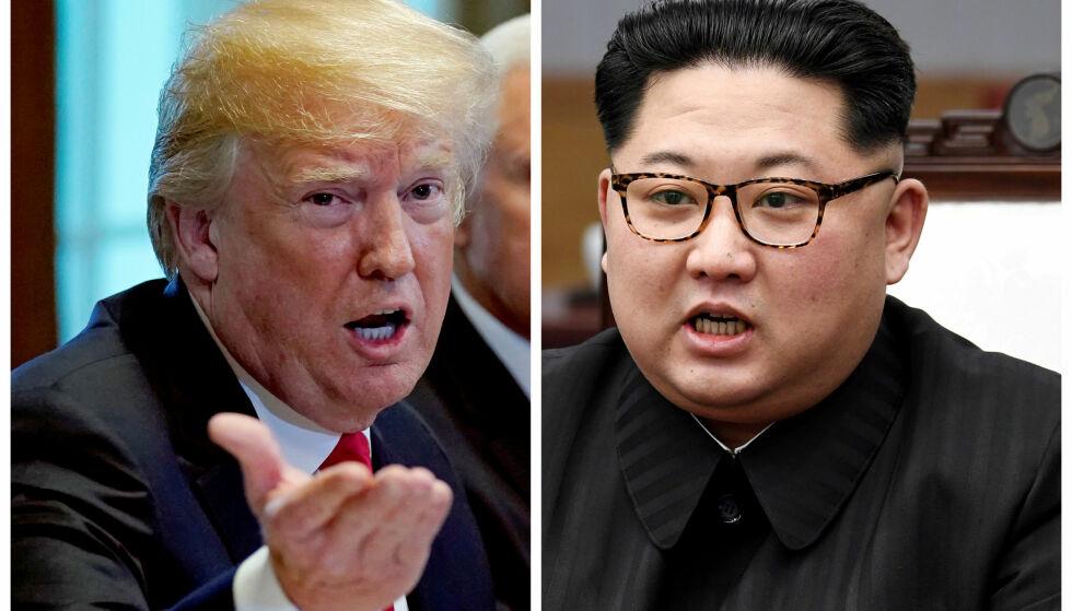 STATSLEDERE: Det er knyttet stor spenning til det kommende møtet mellom USAs president Donald Trump og Nord-Koreas leder Kim Jong-un. Foto: NTB scanpix