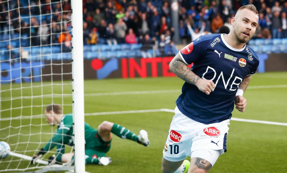 OVERRASKER: Marcus Pedersen synes det er rart at han er Eliteseriens toppscorer. Foto: Heiko Junge / NTB scanpix