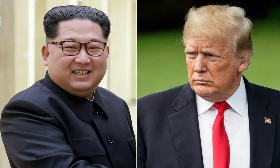 ERKERIVALER: Kim Jong-un og Donald Trump skulle møtes i Singapore 12. juni, men sistnevnte har nå avlyst møtet. Foto: AFP / NTB Scanpix