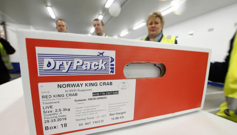 SJØMAT-EKSPORT: Når det kinesiske markedet nå er åpent for Norge igjen, er eksportmulighetene for norsk sjømat gode. Næringa savner imidlertid direkte flyruter. Foto: NTB Scanpix