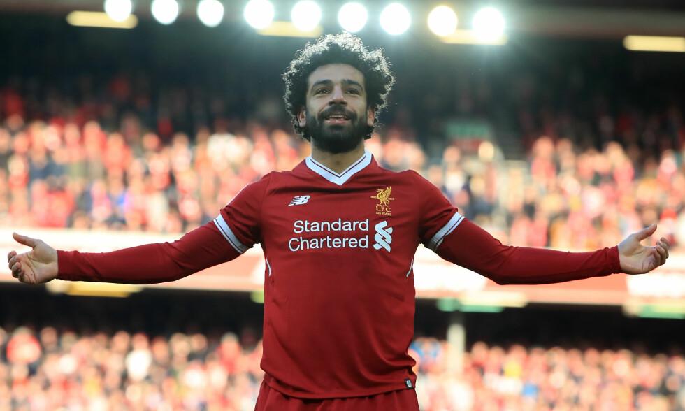 ENESTÅENDE: Mohamed Salah scorer mål for Liverpool, gir penger til hjembyen Nagrig og håp til nasjonen Egypt. Foto: Peter Byrne / Pa Photos / NTB Scanpix