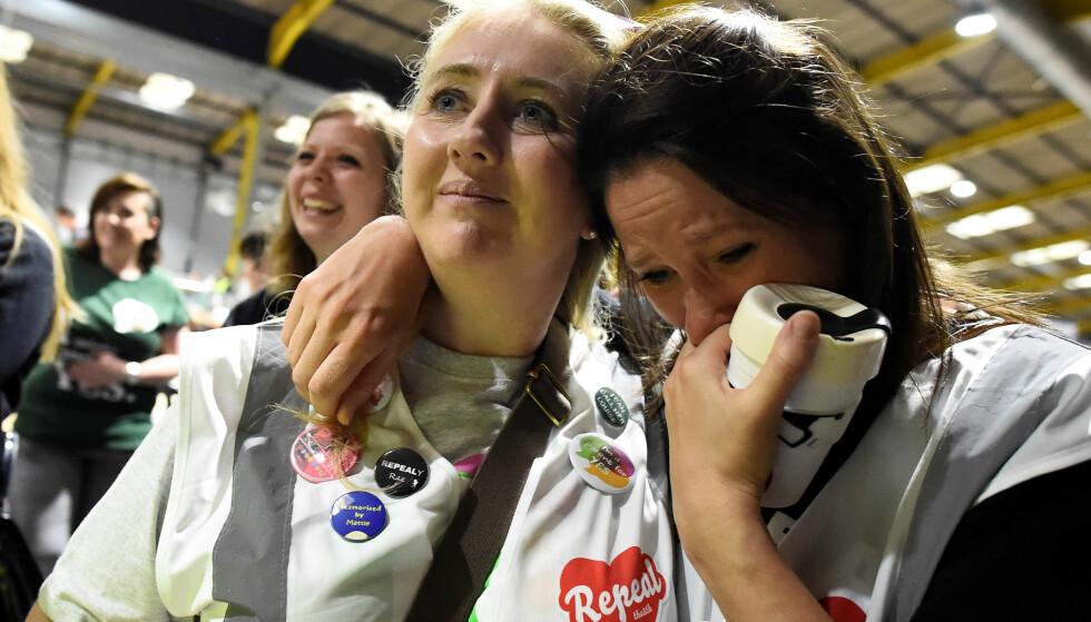 TAPT: En talsperson for nei-siden sier de har tapt abort-avstemningen i Irland, ifølge Sky News. Foto: NTB Scanpix