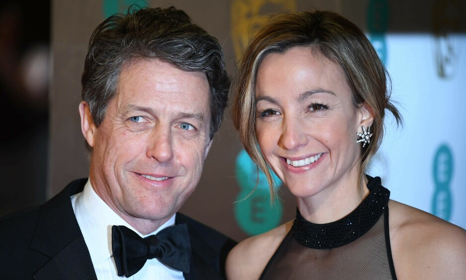 GIFT: Skuespiller Hugh Grant og svenske Anna Eberstein giftet seg fredag etter flere år som kjærester. Foto: NTB Scanpix
