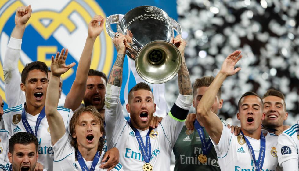 TRE STRAKE: Real Madrid tok sitt tredje strake Champions League-trofé på rad. Foto: Andrew Boyers / Reuters / NTB Scanpix