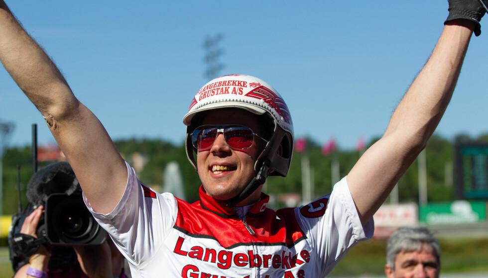 NORSK JUBEL: Gøran Antonsen kunne juble for seier i kvalifiseringen til verdens største sprintløp. I finalen skal han konkurrere om en førstepremie på tre millioner kroner. Foto: Eirik Stenhaug / Ecuus Media