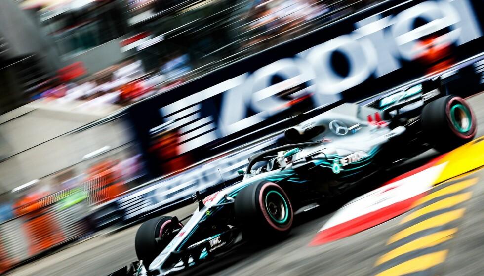 KJEDELIG: Lewis Hamilton var en av førerne som var tydelig misfornøyd etter løpet i Monacos gater. Foto: Phil Duncan/ProSports/REX/Shutterstock