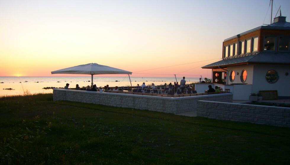 MAT- OG DRIKKE-MEKKA:16 av spisestedene på den lille øya står i restaurant-bibelen White Guide, dessuten er kro-tettheten høy. Foto: Gotland.net