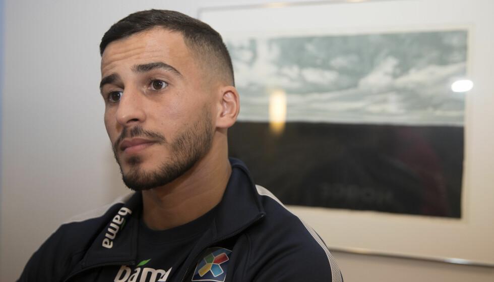 STÅR OVER: Omar Elabdellaoui får ikke spille de to kommende landskampene mot Island og Panama. Foto: Terje Pedersen / NTB scanpix