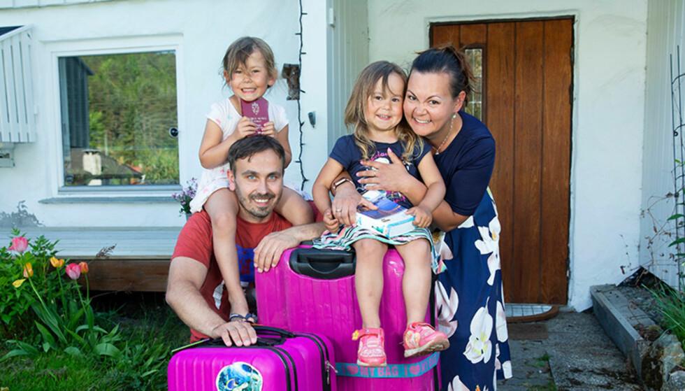 Slik samler familien poeng til Amerika-reise