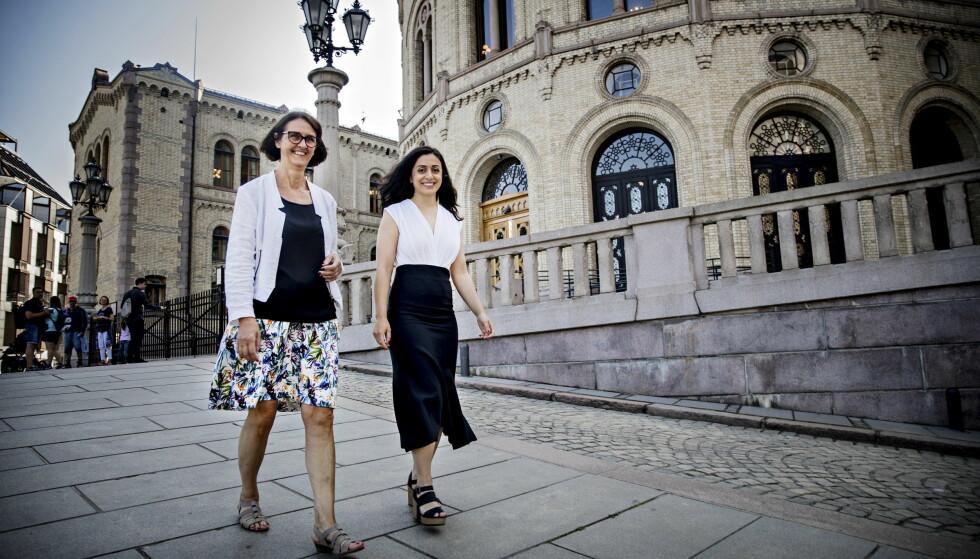 SVIKT: Ap-nestleder Hadia Tajik og Kari Henriksen, likestillingspolitisk talsperson i Arbeiderpartiet, mener at regjeringen har sviktet på flere områder av likestillingspolitikken. Foto: Bjørn Langsem / Dagbladet