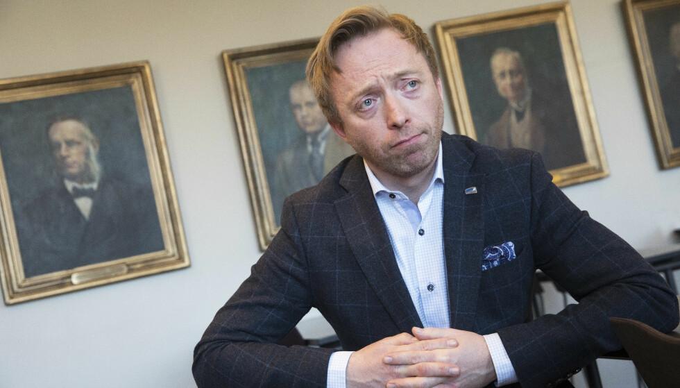 METOO-SAKENE: Torsdag annonserte Høyres generalsekretær John-Ragnar Aarset at partiet har behandlet ferdig sine saker. Foto: Ole Berg-Rusten / NTB Scanpix