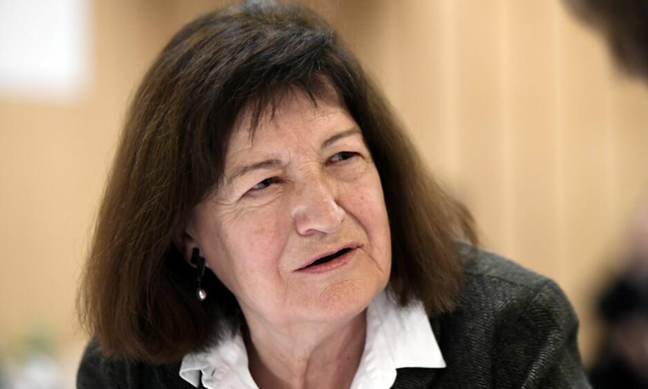 KANON: Kirsten Thorup (f. 1942) er blant Danmarks mest betydningsfulle forfattere. For «Erindring om kjærlighet», stødig oversatt av Bente Klinge, fikk hun Nordisk Råds Litteraturpris i 2017. Foto: NTB SCANPIX