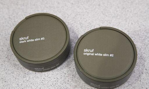 image: Skruf sliter med å få ut «stygge» snusbokser