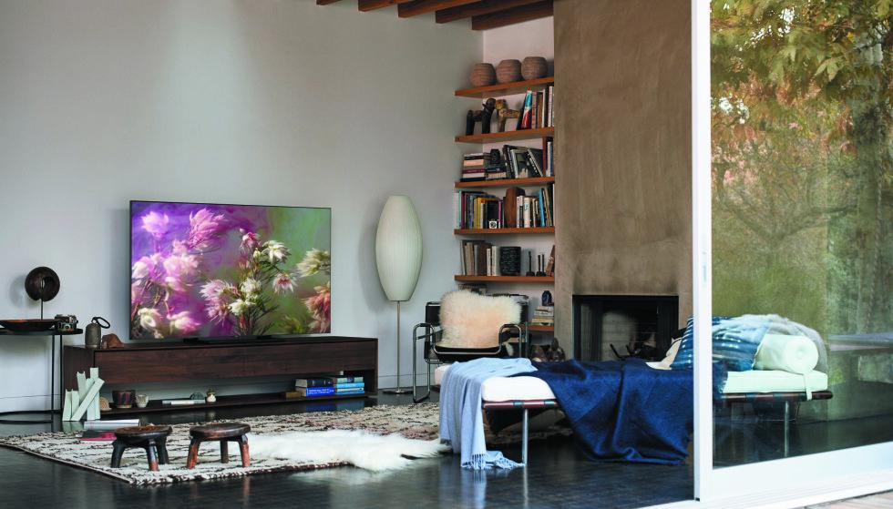 SMART: Med One Connect-funksjonen kan en QLED TV settes opp helt uten synlige ledninger.
