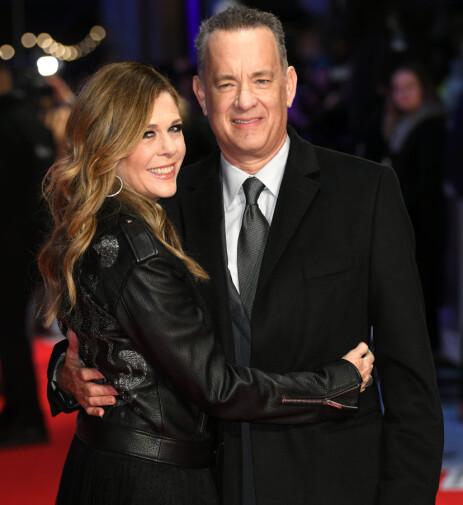 JUBILEUMSÅR: Tom Hanks og kona Rita Wilson kan i år feire 30 år som ektepar. Foto: NTB Scanpix