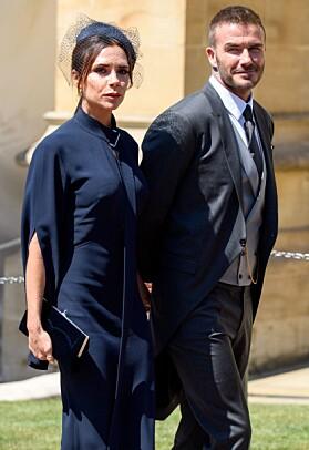I BRYLLUP: I år har paret vært gift i 19 år. Her var de sammen i prins Harry og Meghans bryllup i mai. Foto: NTB Scanpix