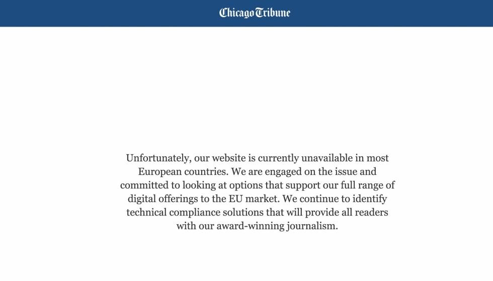 Amerikanske nettsider fortsatt stengt for europeiske brukere