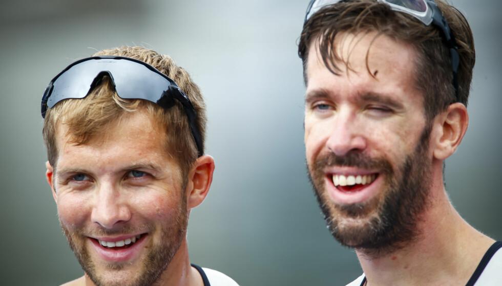 IMPONERER: Roerne Kristoffer Brun (tv) og Are Strandli. Foto: Heiko Junge / NTB scanpix