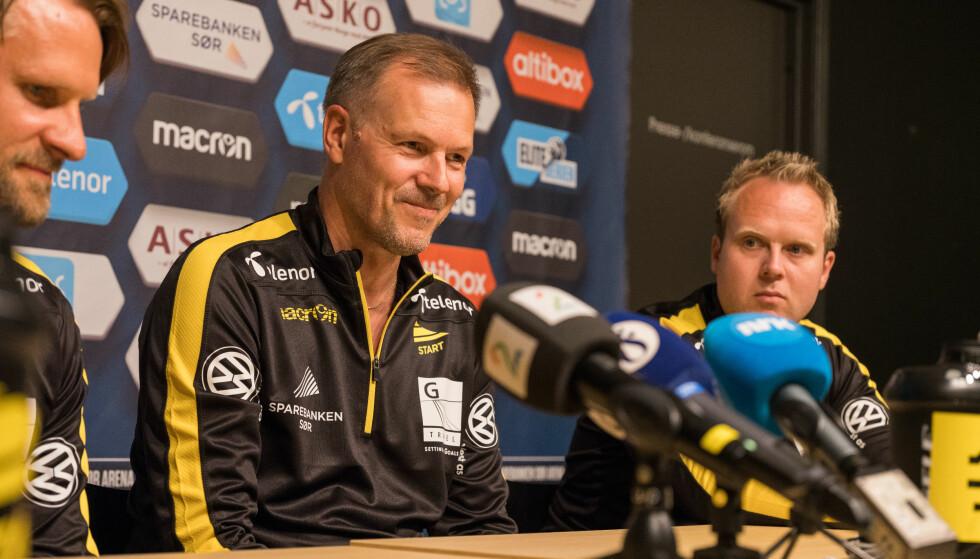 NY JOBB: Kjetil Rekdal ble presentert som Start-trener i kveld. Foto: Fredrik Hagen / NTB scanpix