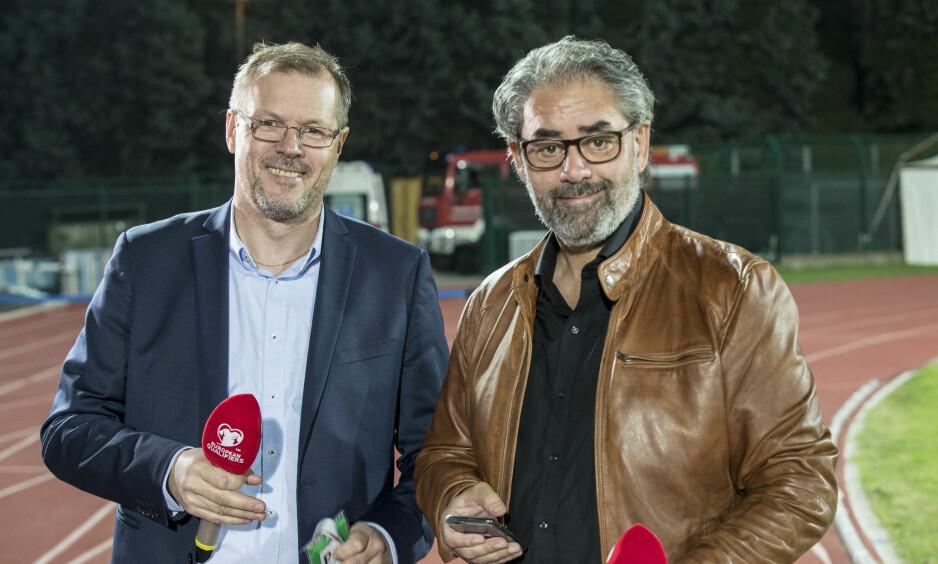 GODE KOLLEGER: Kjetil Rekdal (t.v.) og Kenneth Fredheim. Foto: Vidar Ruud / NTB scanpix