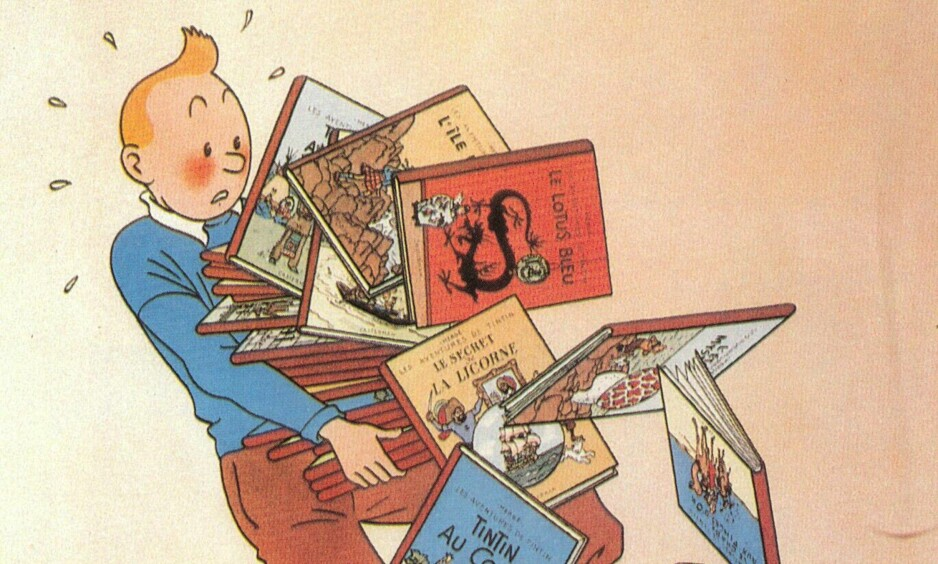 En originaltegning av tegneseriehelten Tintin (ikke denne) er solgt på auksjon for nærmere 3,5 millioner kroner. Tegning: Herge, Egmont / NTB scanpix