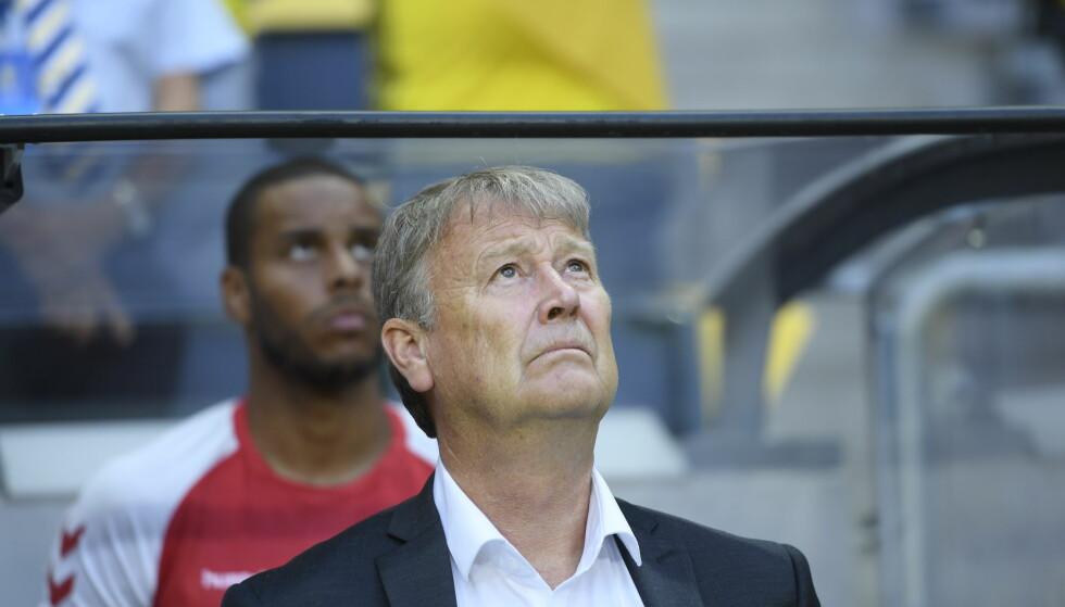 EGET VALG: Åge Hareide mener Daniel Wass kun har seg selv å takke for at han ikke er med i VM-troppen til Danmark. Foto: Maja Suslin/TT / NTB scanpix