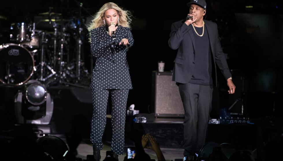 I SØKELYSET: Rapper Jay Z er en av hovedaksjonærene i Tidal. Kona Beyoncé er også medeier og i sentrum av DNs avsløring om manipulerte lyttertall. Foto: AP Photo / NTB scanpix