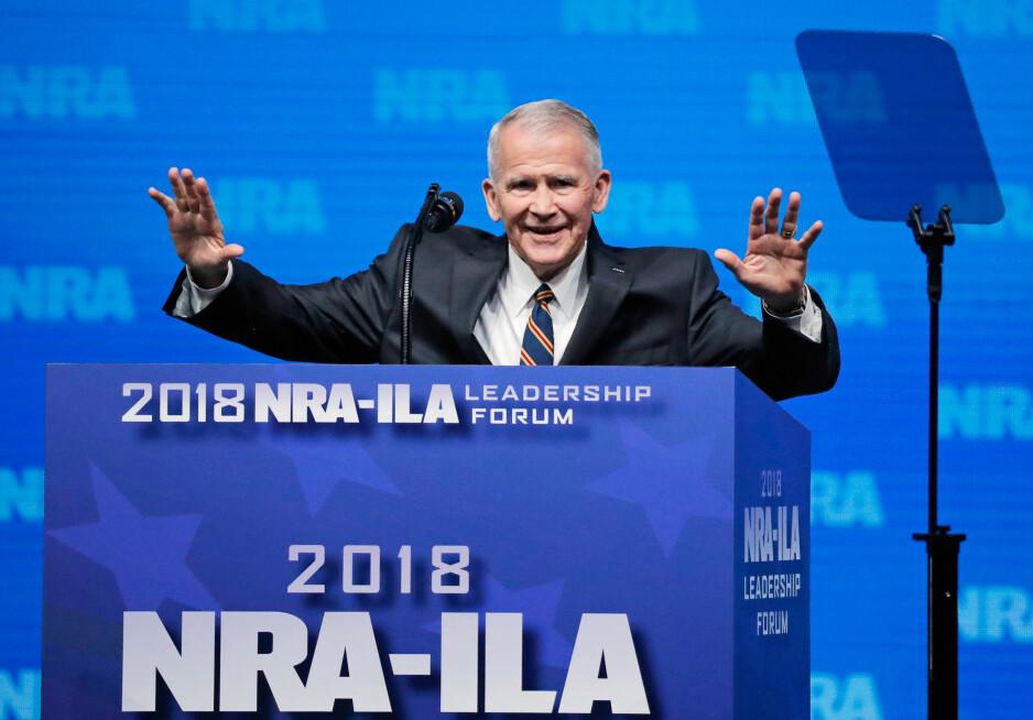 COMEBACK: Oliver North er tilbake i amerikansk politikk, nå som leder for våpenlobbyen NRA. Foto: Reuters / NTB Scanpix