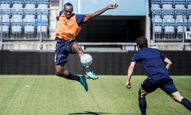 UFORUTSIGBAR: Espen Bugge Pettersen sier man må forvente det uventede med Usain Bolt. Foto: Hans Arne Vedlog / Dagbladet.