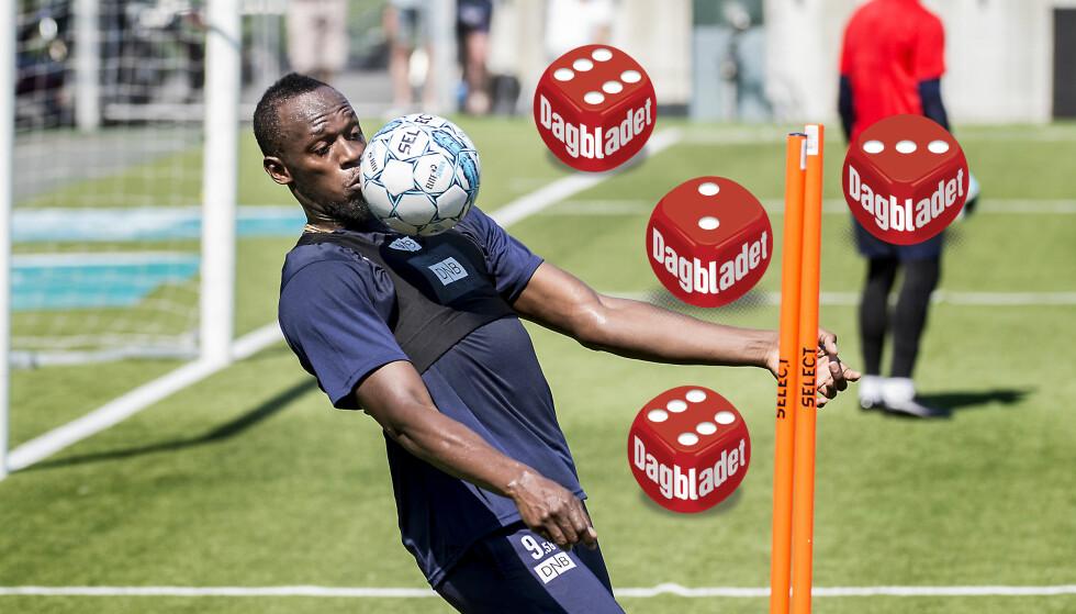 IMPONERER: Usain Bolt blir bedre og bedre for hver trening, skal man tro Godset-spillerne. Foto: Hans Arne Vedlog / Dagbladet.