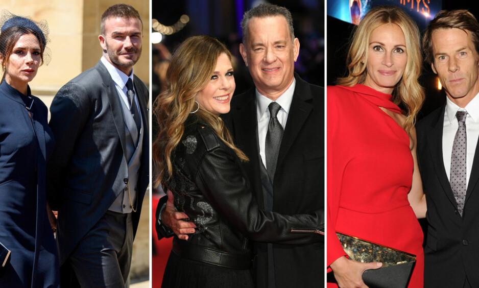 LANGE EKTESKAP: Midt oppi alle skilsmisser og ekteskapsskandaler i Hollywood, finnes det eksempler på ekteskap som har holdt i en årrekke. Det har de all grunn til å feire, skal man tro samlivsekspert. Foto: NTB Scanpix