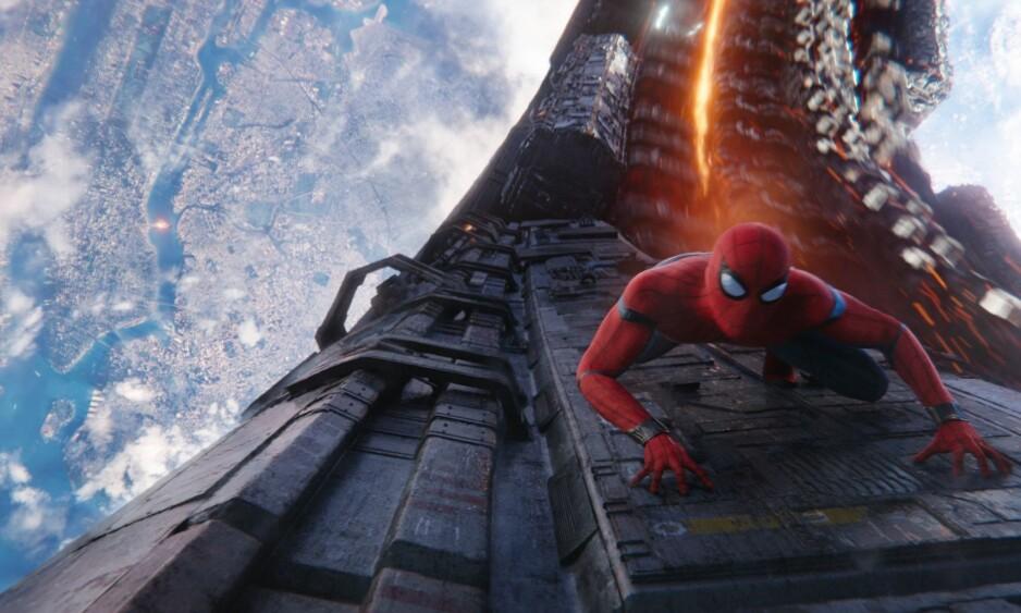 SUPERHELT: Spiderman fra siste «Avengers»-film. Bildet er brukt som illustrasjon. Foto: Marvel