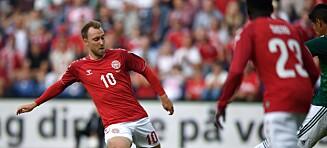 Christian Eriksen sender Åge Hareide til VM med et smil om munnen