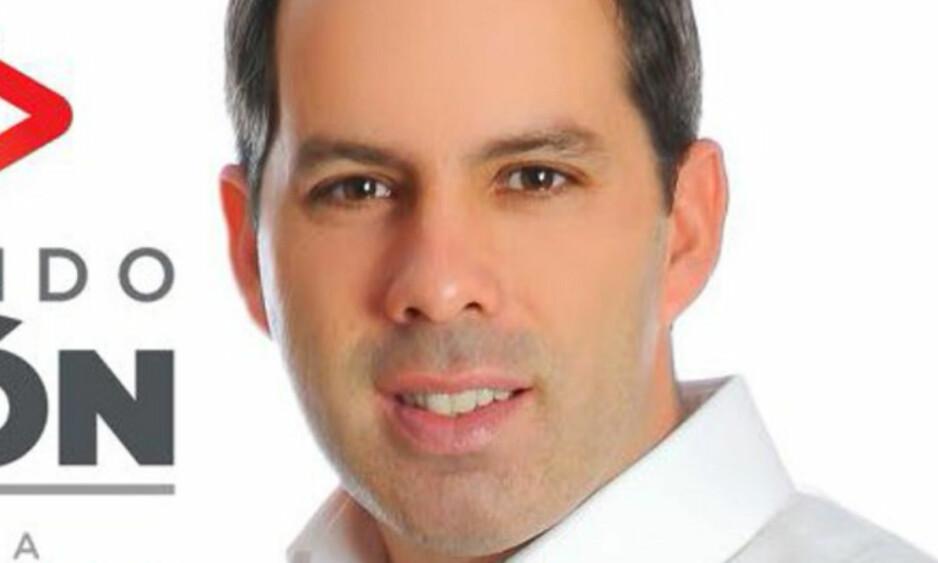 SKUTT OG DREPT: Fernando Puron var en av kandidatene til den meksikanske kongressen, og tok nylig opp sikkerhetssituasjonen i hans nordlige stat. Så blir han skutt og drept. Foto: Purons Twitter-konto